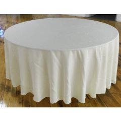 108'' Round Polyester Tablecloth - Ivory