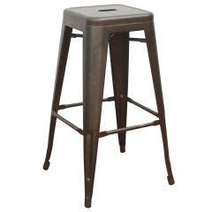Titan Series™ Industrial Metal Bar Stool - Gun Metal