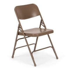 Beige Steel Folding Chair