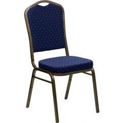 Crown Back Stacking Banquet Chair - Gold Vein Frame Collection