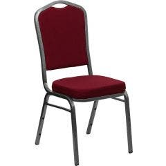 Crown Back Stacking Banquet Chair - Silver Vein Frame Collection