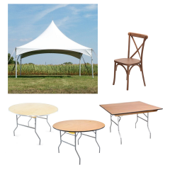 Outdoor Dining Bundle with Madison Cross Back Chairs