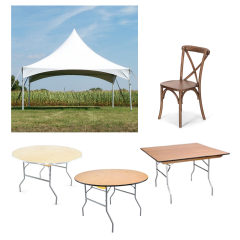 Outdoor Dining Bundle with Vineyard Estate Cross Back Chairs
