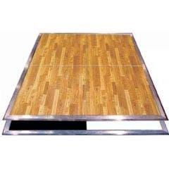 New England Plank Complete Laminate Dance Floor - 4' x 4' Panels - Wide Edge
