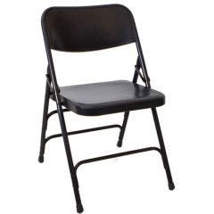 Black Steel Folding Chair