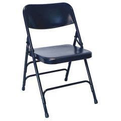 Navy Steel Folding Chair