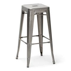 Titan Series™ Metal Bar Stool - Clear Coat