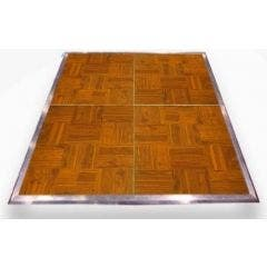 Wood Grain Vinyl Complete Dance Floor - 4' x 4' Panels - Wide Edge