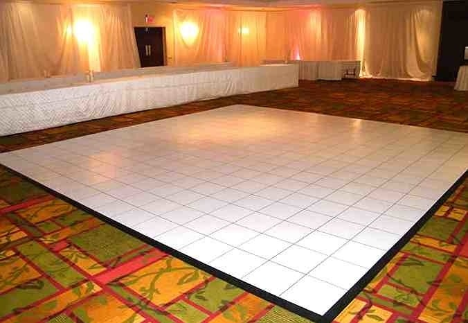 Buy White Complete Laminate Dance Floor 4 X 4 Panels