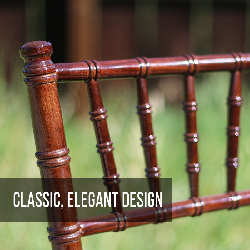 Chiavari chairs have a classic, elegant design