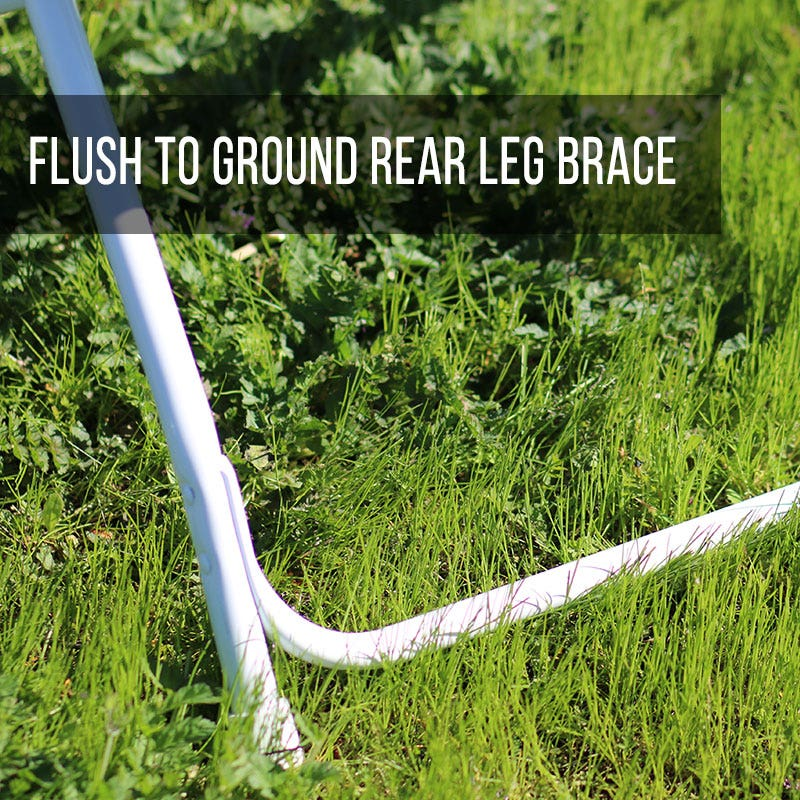 Flush to ground rear leg brace