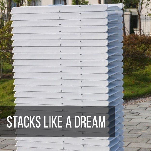 Resin Folding Chairs Stack Like a Dream