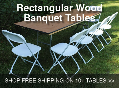 Rectangular Wood Banquet Tables Shop Free Shipping on 10+ tables