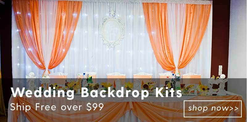Wedding Backdrop Kits - Ship Free over $99