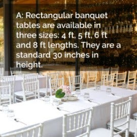 The average size of a banquet Table